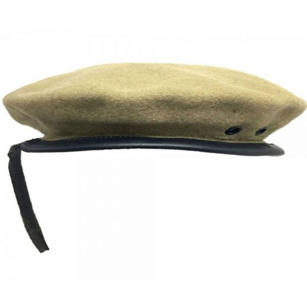 Plain Khaki Beanie Glengarry Hat