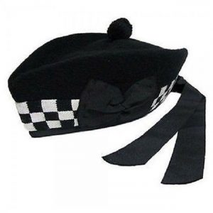 Black and White Glengarry Hat