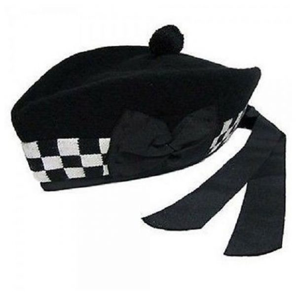 Black and White Glengarry Hat