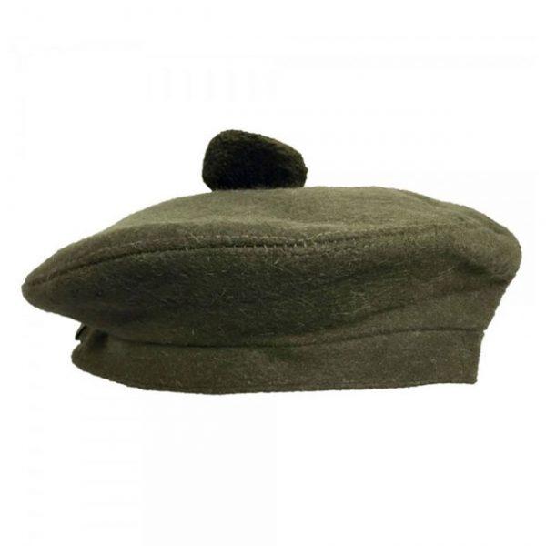 Glengarry cap for men with pom