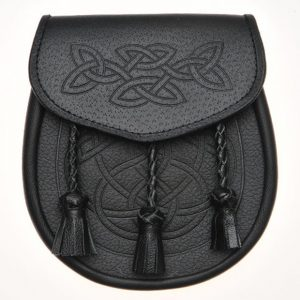 Celtic Knot Embossed Leather Kilt Sporran