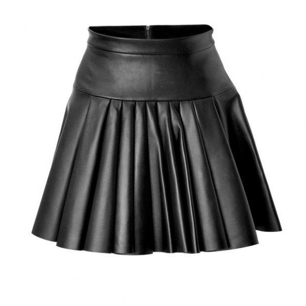 Black Leather kilt For Women