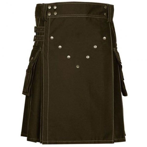 Brown Victory Utility Kilt | Brown Heavy Duty Active Man Utility Kilt For Sale