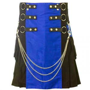 Hybrid kilt Blue And Black