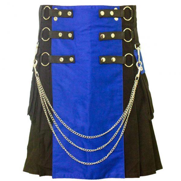 Hybrid kilt Blue And Black