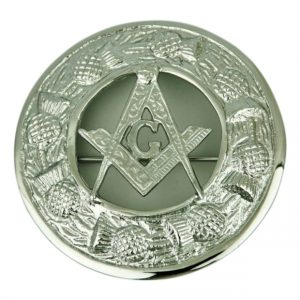 Masonic Fly Plaid Brooch For Men