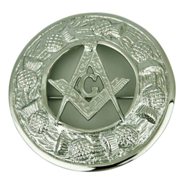Masonic Fly Plaid Brooch For Men