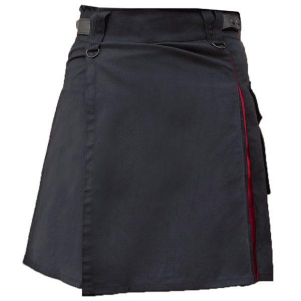 Black Red Hybrid Kilt For Women