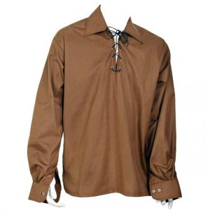 Brown Scottish Jacobite Ghillie Shirt