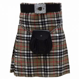 Thompson Camel Tartan kilt For Women