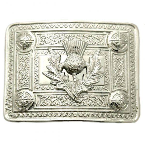 Thistle Mount Buckle For Kilt Belt