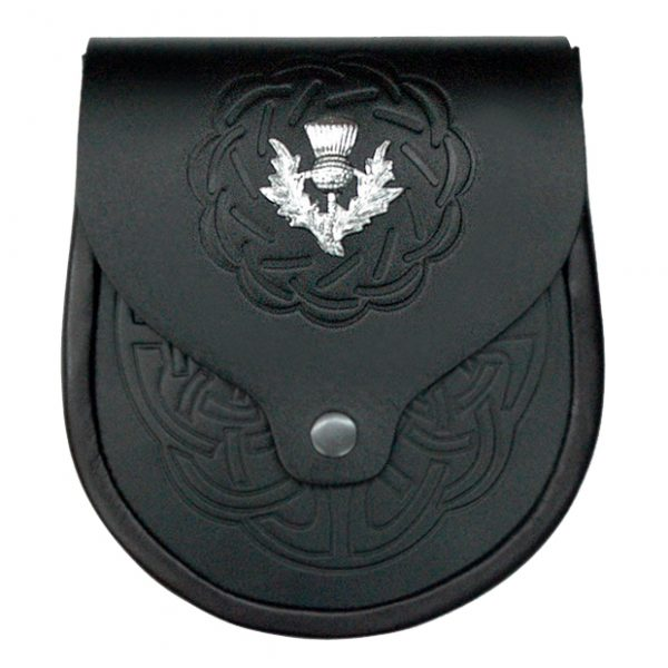 Celtic Pattern Leather Sporran