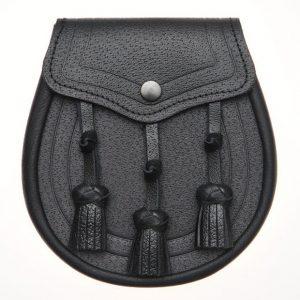 Taseel Black Leather Sporran