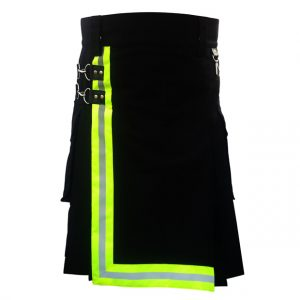 Black Firefighter Kilt For Working Men