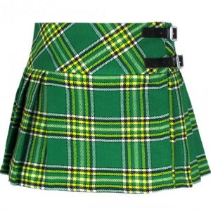 Irish Tartan Green Mini skirt