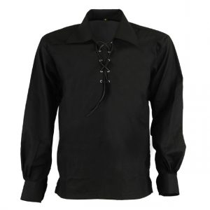 Black Jacobite kilt Shirt