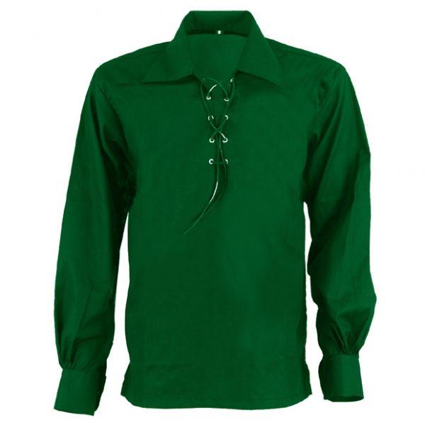 Scottish Green Jacobite Ghillie Kilt Shirt