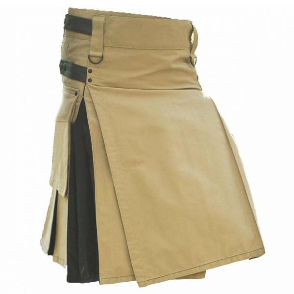 Hybrid Khaki Kilt For Women