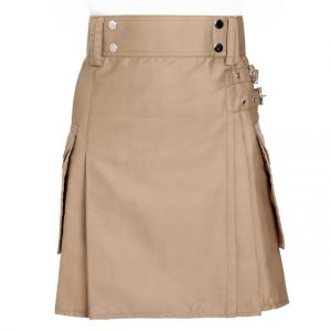 Khaki Utility kilt For Women