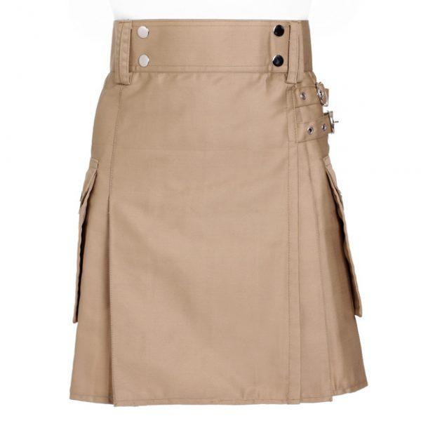 Khaki Utility kilt For Women