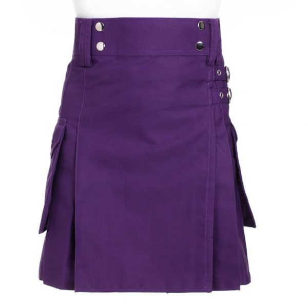 Purple Utility Kilt For Women