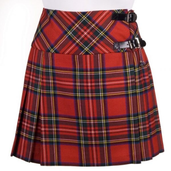 Ladies Short Tartan Billie Skirt