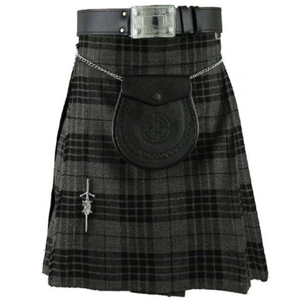 Scottish Grey Tartan Kilt