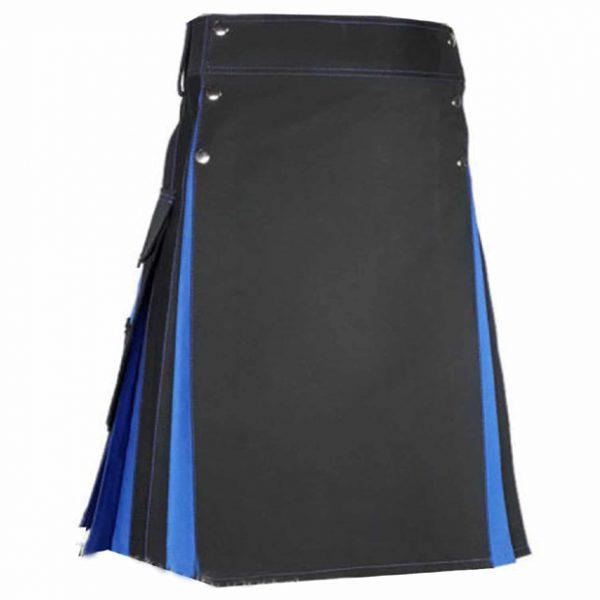 Black blue Hybrid kilt For Women