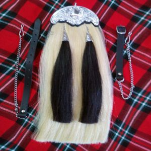 White Horse Hair Celtic Cantle Sporran