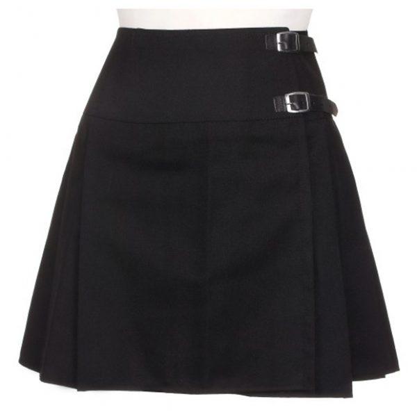 Women Short Black Kilt