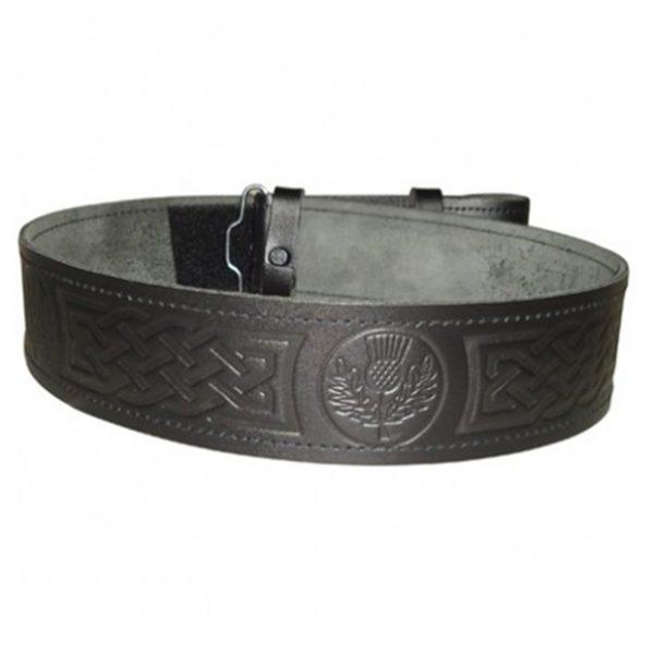 Engraved Kilt Leather Belts