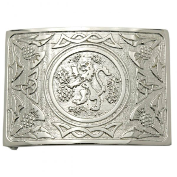King Rampant Leather Belt Buckle