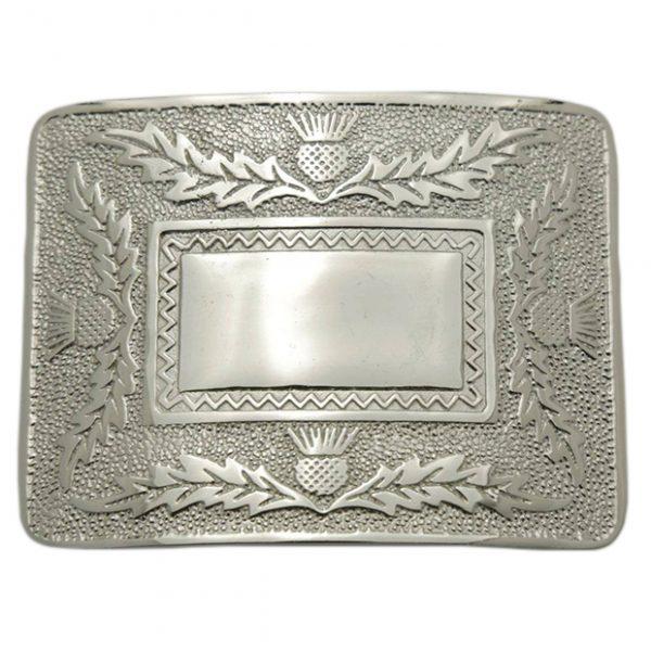 Thistle Silver Kilt Belt Buckle