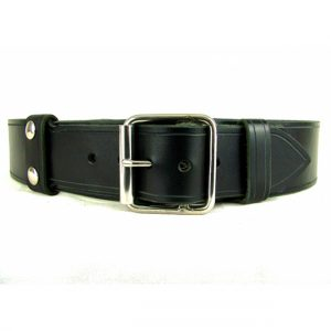 Leather Belt With Single Buckle