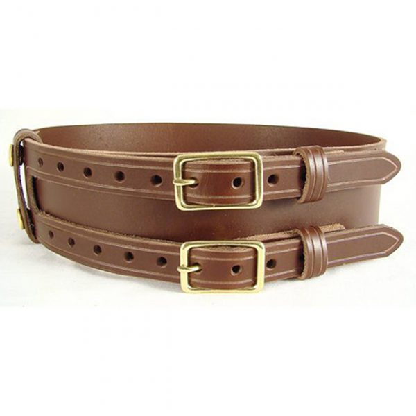 Leather Kilt Belt With Tow Buckles