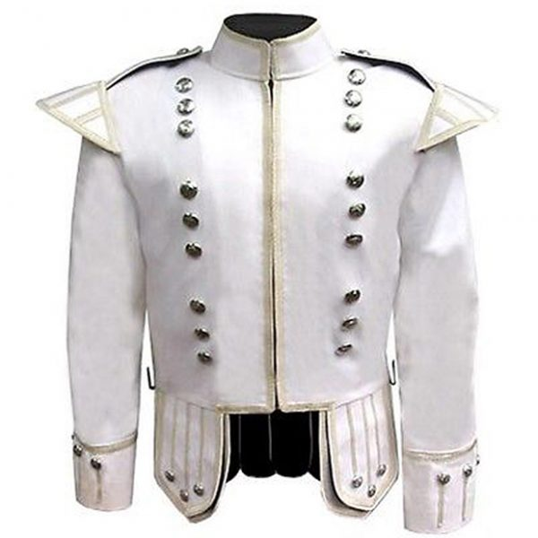 White Pipers Doublet Band Jacket